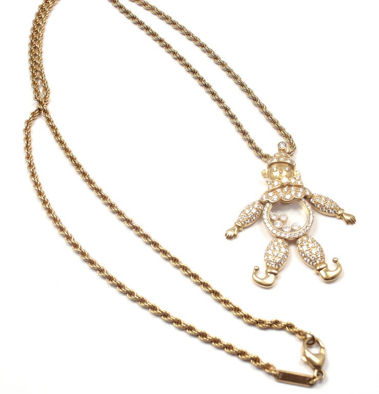 CHOPARD Happy Diamond Happy Clown Gold Necklace image 2