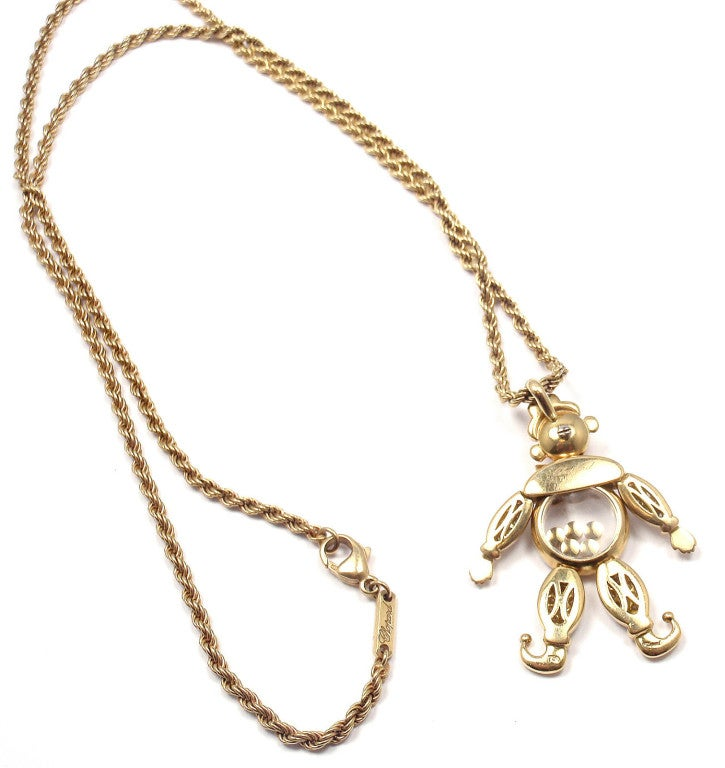 chopard happy happy clown gold necklace at 1stdibs
