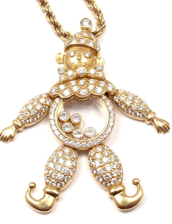 CHOPARD Happy Diamond Happy Clown Gold Necklace image 8