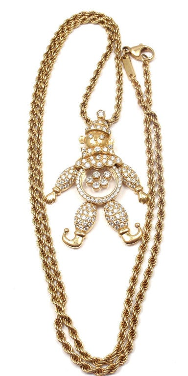 CHOPARD Happy Diamond Happy Clown Gold Necklace image 9