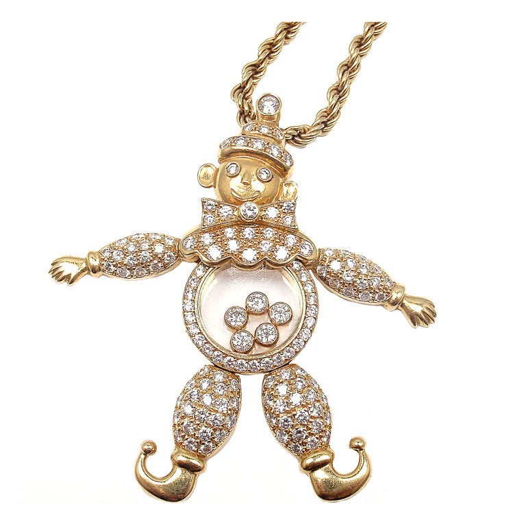 CHOPARD Happy Diamond Happy Clown Gold Necklace