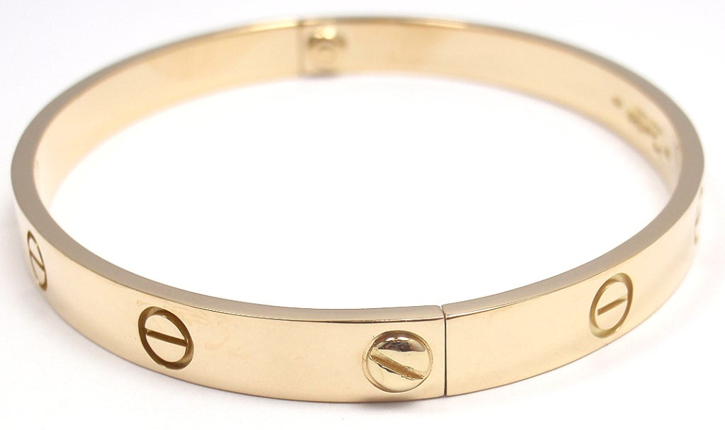CARTIER Love Yellow Gold Bangle Size 19 image 4