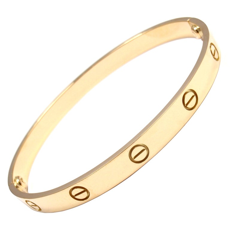 CARTIER Love Yellow Gold Bangle Size 19