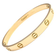 CARTIER Love Yellow Gold Bangle Size 17