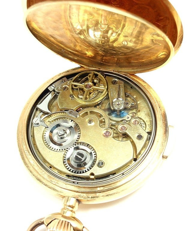 zenith yellow gold minute repeating pocket at 1stdibs