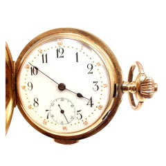 Zenith Yellow Gold Minute Repeating Pocket Watch
