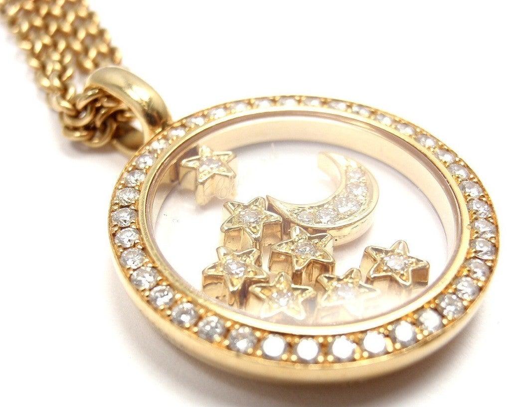 Chopard Large Moon And Stars Happy Diamond Yellow Gold