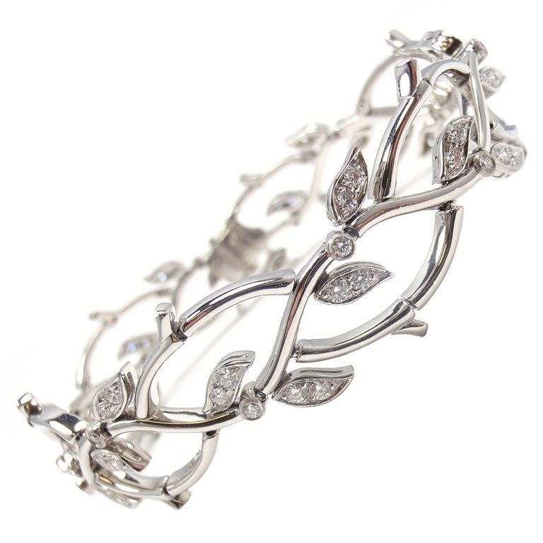 Tiffany And Co Diamond Platinum Bracelet Quot Garland