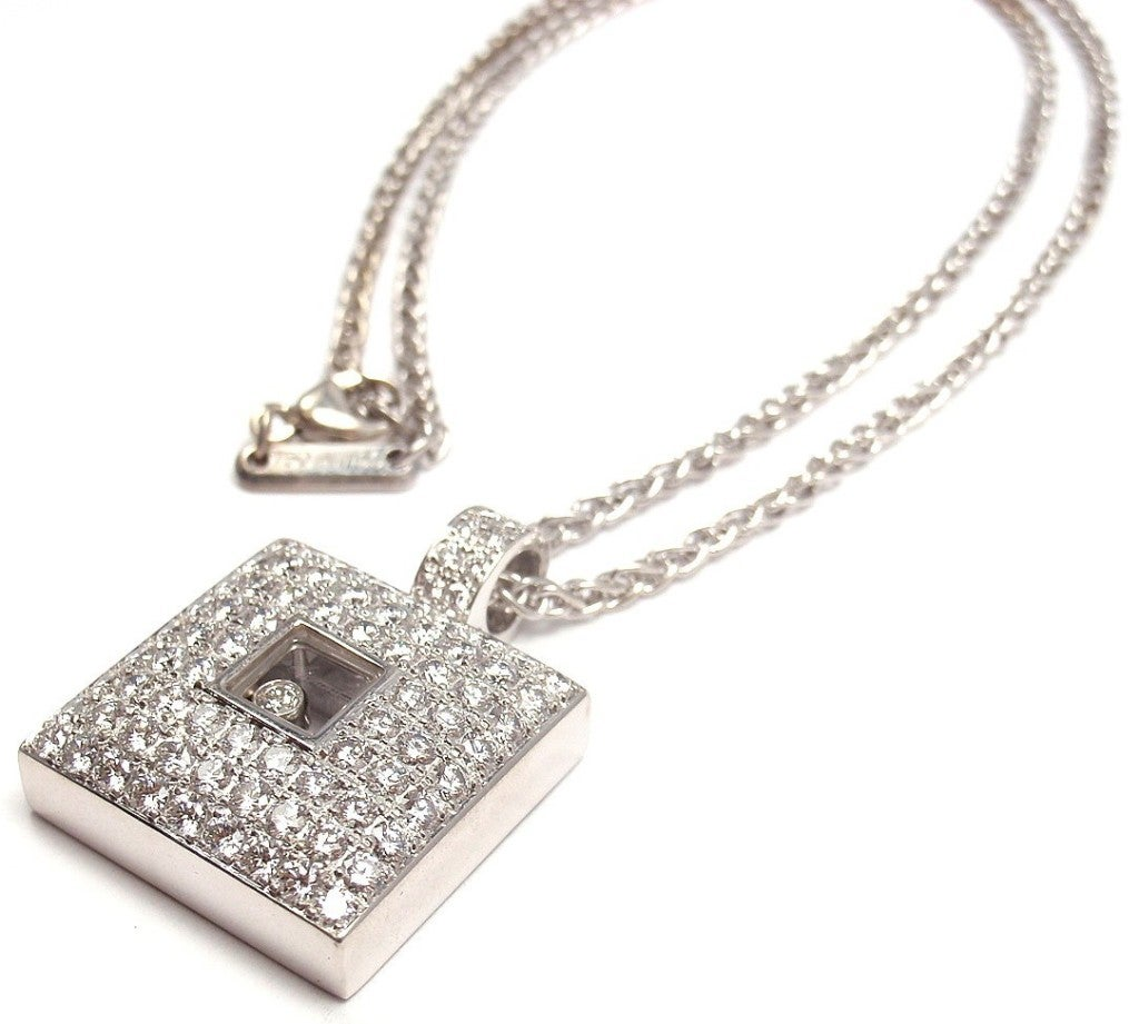 chopard happy white gold necklace at 1stdibs