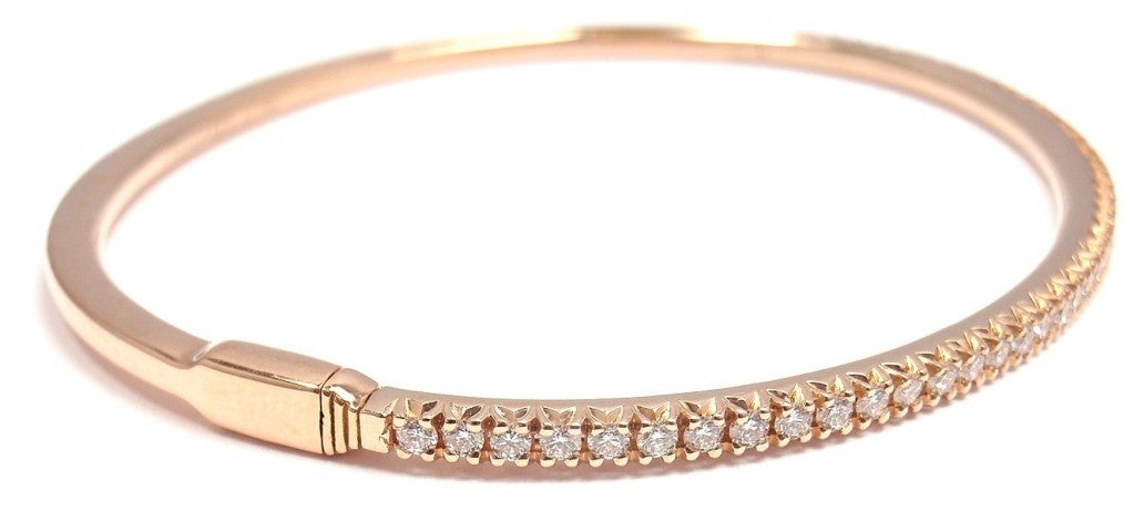 Women S Tiffany Co Diamond Metro Rose Gold Bracelet