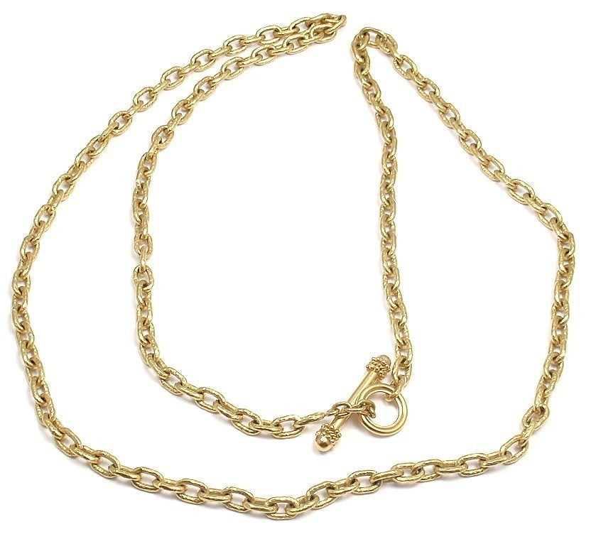elizabeth locke toggle link yellow gold necklace at 1stdibs