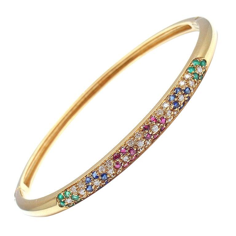 Van Cleef And Arpels Diamond Ruby Sapphire Emerald Yellow