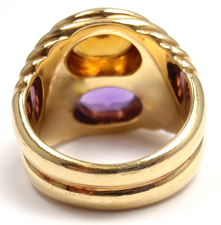 Bulgari Amethyst Citrine Yellow Gold Ring image 5
