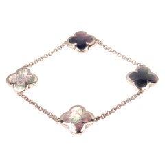 VAN CLEEF & ARPELS Alhambra Four Motif White Gold Bracelet