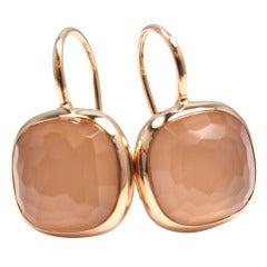 POMELLATO Cipria Rose Quartz Rose Gold Earrings