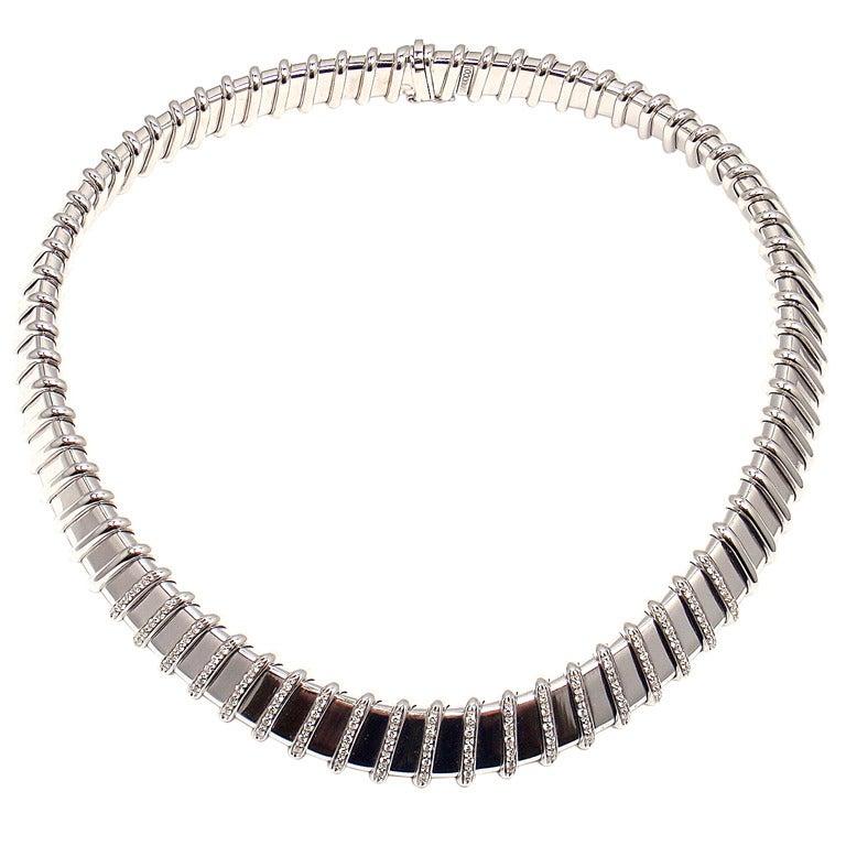 Roberto Coin Nabucco Diamond White Gold Necklace At 1stdibs