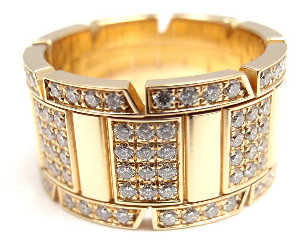 cartier large model tank francise yellow gold band