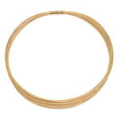 TIFFANY & CO  Wire Multi-Strand Yellow Gold Necklace