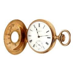 Patek Philippe Rose Gold Demi-Hunter Case Pocket Watch
