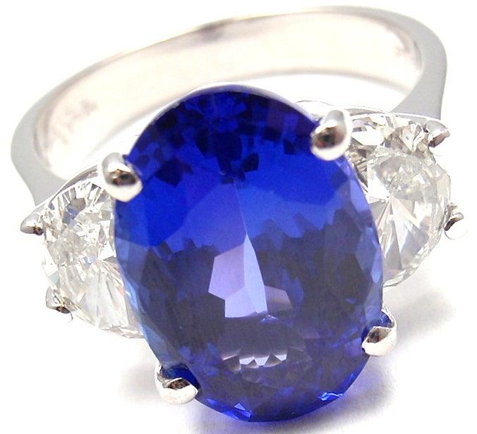 JB STAR Diamond & Tanzanite Platinum Ring 2