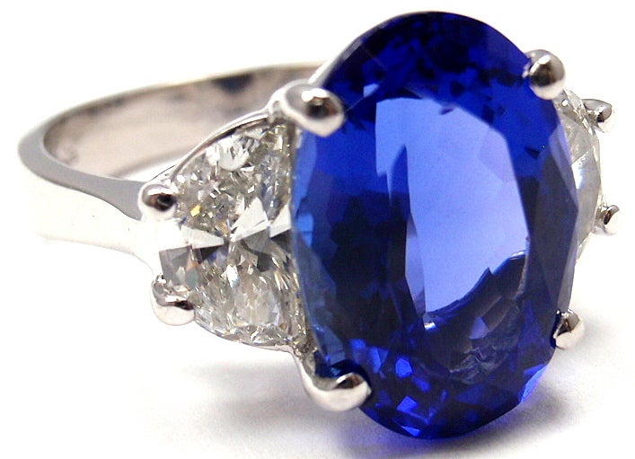 JB STAR Diamond & Tanzanite Platinum Ring 3
