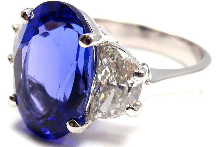 JB STAR Diamond & Tanzanite Platinum Ring 4