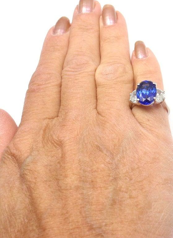JB STAR Diamond & Tanzanite Platinum Ring 8