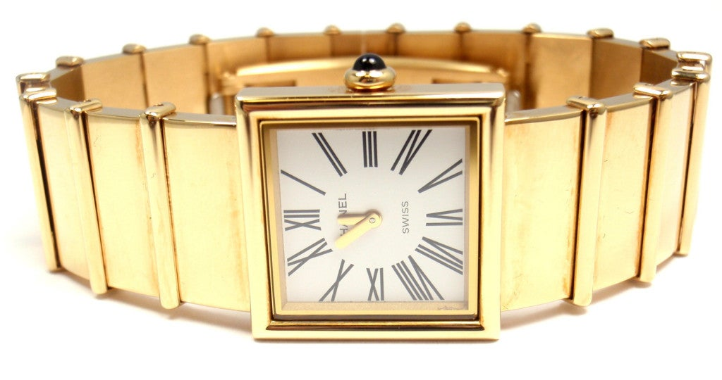 Chanel Lady's Yellow Gold Mademoiselle Quartz Bracelet Watch In New Condition In Holland, PA