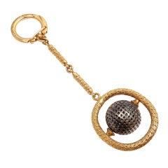 Patek Philippe Golf Ball Yellow Gold Keychain