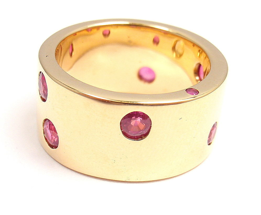 CHANEL Ruby & Yellow Sapphire Yellow Gold Ring For Sale 1
