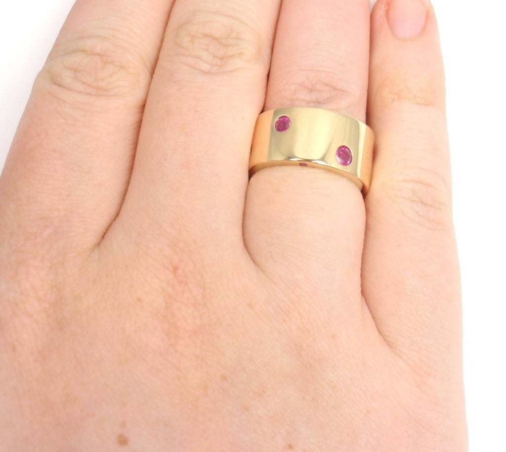 CHANEL Ruby & Yellow Sapphire Yellow Gold Ring For Sale 2