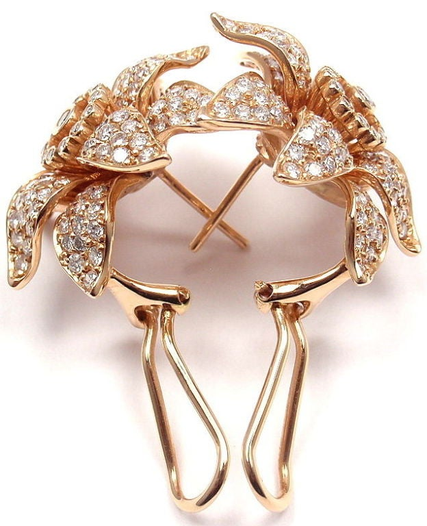 SONIA B. BITTON Diamond Flower Rose Gold Earrings 3
