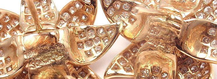SONIA B. BITTON Diamond Flower Rose Gold Earrings 4