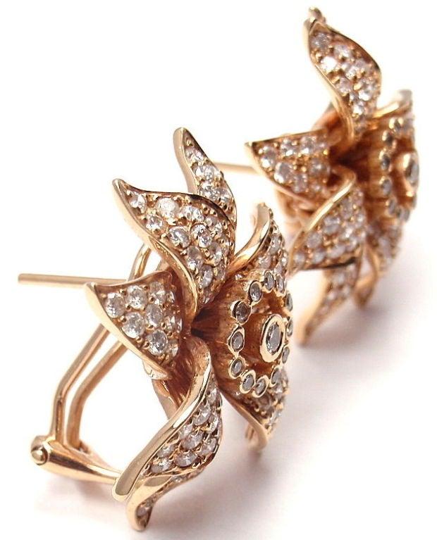 SONIA B. BITTON Diamond Flower Rose Gold Earrings 5