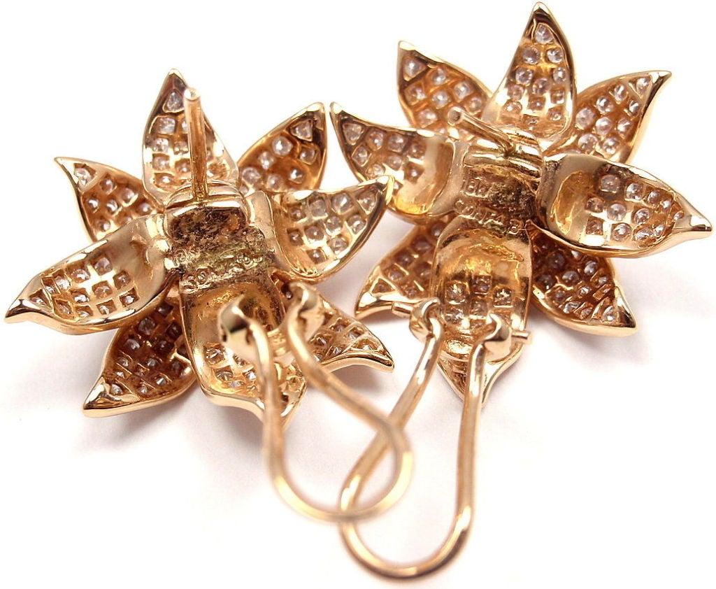 SONIA B. BITTON Diamond Flower Rose Gold Earrings 6