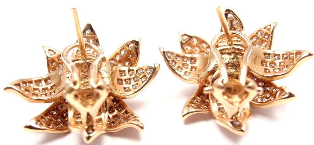 SONIA B. BITTON Diamond Flower Rose Gold Earrings 7