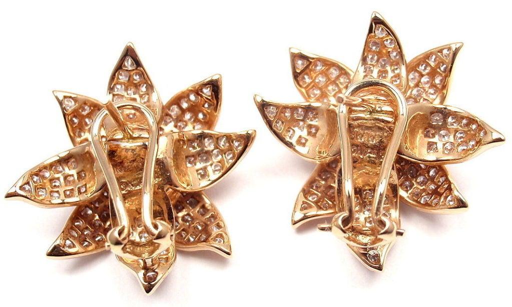 SONIA B. BITTON Diamond Flower Rose Gold Earrings 8