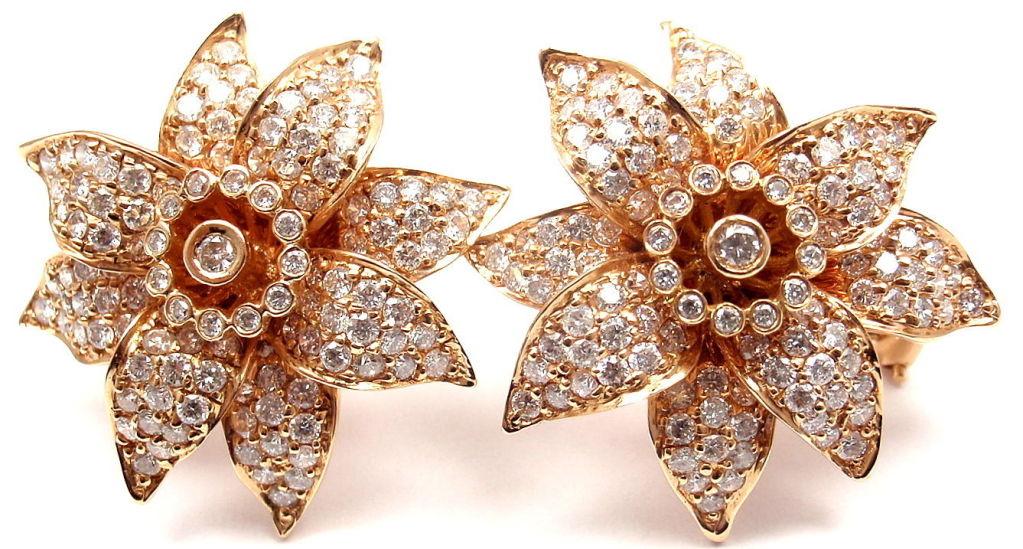 SONIA B. BITTON Diamond Flower Rose Gold Earrings 9