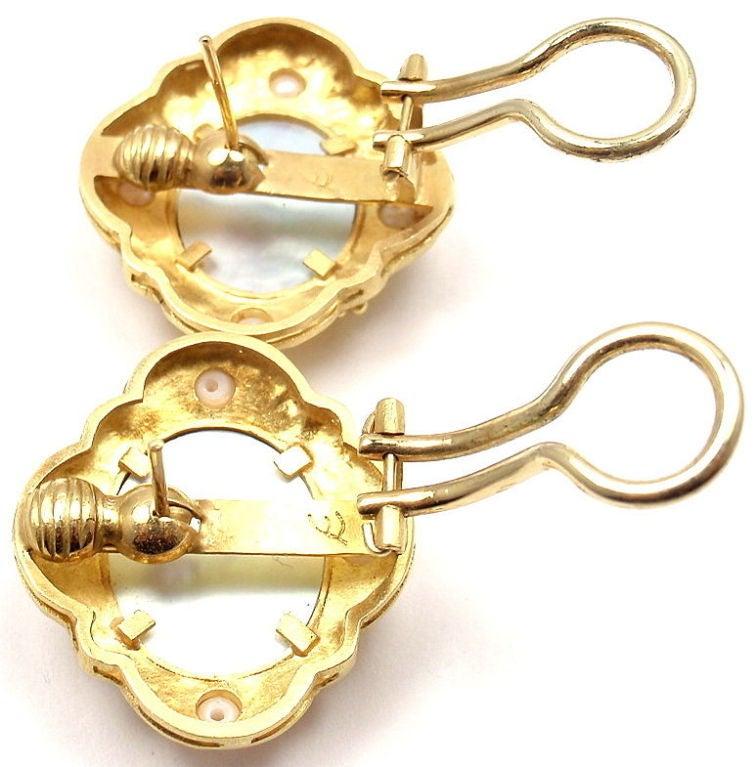 Elizabeth Locke Venetian Glass Intaglio Pearl Yellow Gold Earrings 7
