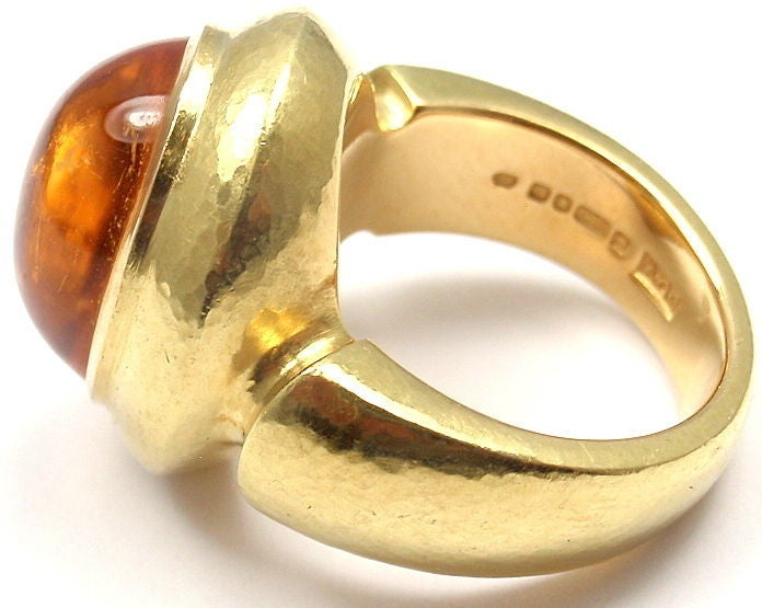 LEO DE VROOMEN Citrine Yellow Gold Ring 2