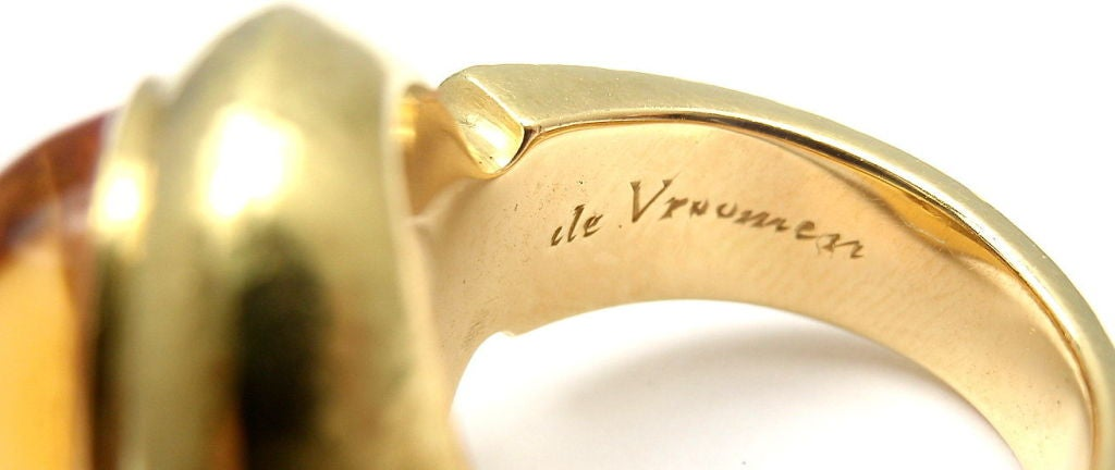 LEO DE VROOMEN Citrine Yellow Gold Ring 7