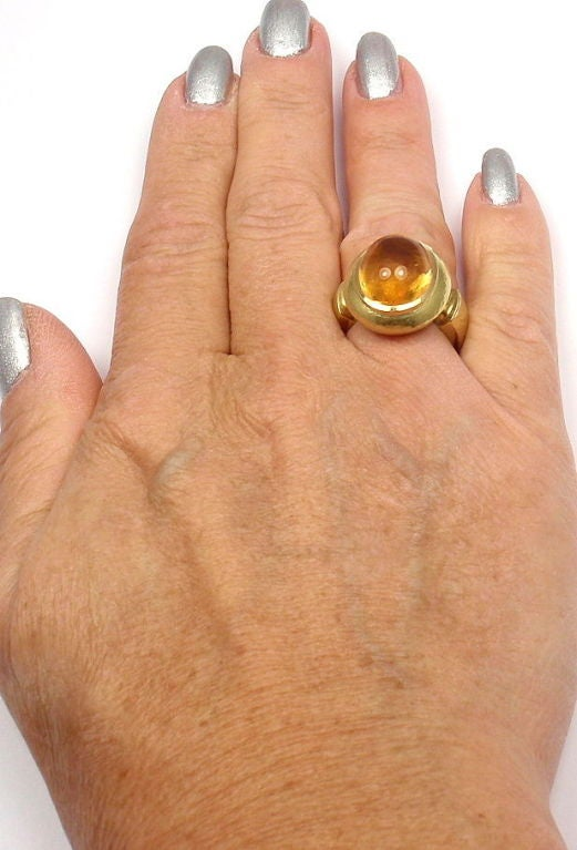 LEO DE VROOMEN Citrine Yellow Gold Ring 9