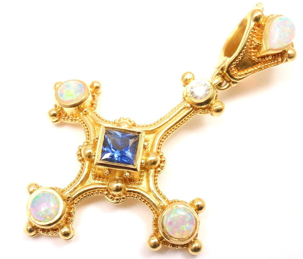 kent raible opal sapphire yellow gold inverted