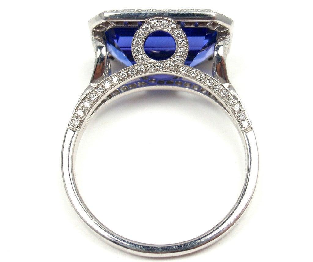 and co tanzanite platinum ring at 1stdibs