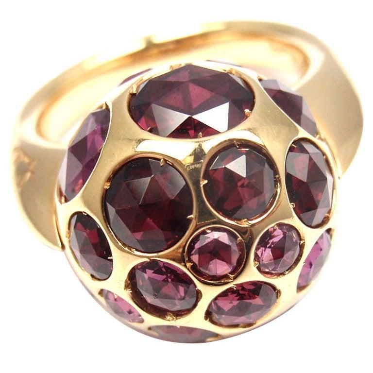 POMELLATO Harem Rhodolite Garnet Rose Gold Ring