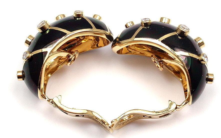 Tiffany And Co Jean Schlumberger Black Enamel Diamond