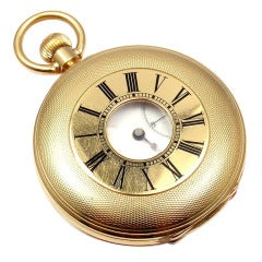 Jules Jurgensen Yellow Gold Demi-Hunter Case Pocket Watch Retailed by Tiffany & Co.