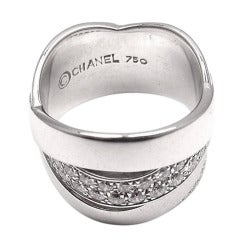 Chanel Diamond White Gold Ring