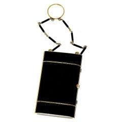 Art Deco Tiffany & Co. Black Enamel Diamond Yellow Gold Compact