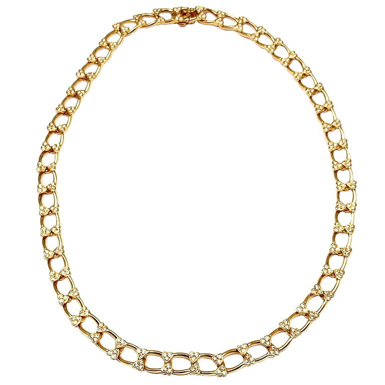 VAN CLEEF & ARPELS Diamond Yellow Gold Necklace